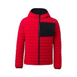 Ultraleichte Kapuzen-Daunenjacke - M - Rot
