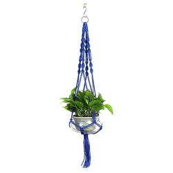 Masbekte Dekohänger, Blumenampel Blumentopf Pflanzen Wohnkultur Topfpflanzgefäß, Höhe ca. 105cm blau