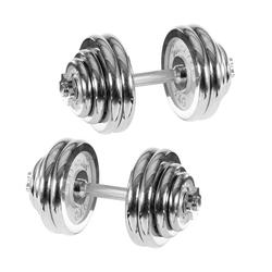 breluxx fitness Hantel-Set Hantelset 30kg Premium Chrom Kurzhantel Ø 25mm