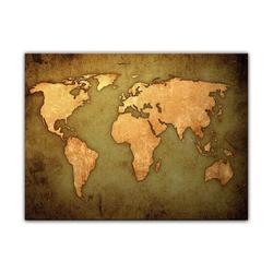 Bilderdepot24 Leinwandbild, Leinwandbild - Weltkarte 80 cm x 60 cm