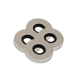 BigDean Türknauf Aluminium Rosette Zimmertürknopf Knopfdrücker, 4-tlg.