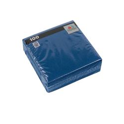 Fasana Papierserviette Serviette 33 x 33 cm 1 Lagig 1/4 Falzung royalblau