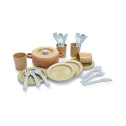 dantoy Spielgeschirr BIOplastic Ess-Service für 4 in Geschenkbox, beige