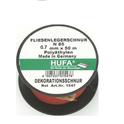 Hufa Fliesenleger Schnur Ø 0.7mm x 50m rot