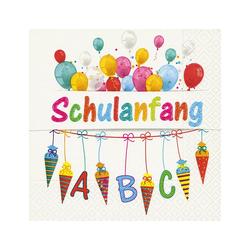 Paper+Design Papierserviette Schulanfang, (20 St), 33 cm x 33 cm
