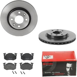 Brembo | 2 Bremsscheiben COATED DISC LINE Belüftet Ø259 Mm + Bremsbeläge Vorne (IJDTIDGGP8)