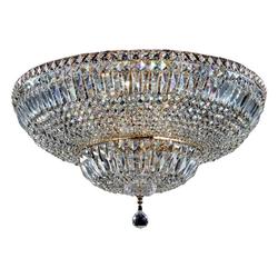 click-licht Kronleuchter Kronleuchter Basfor E14 aus Metall in Gold 16-flam, Kronleuchter