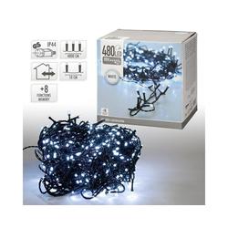 ECD Germany Lichterkette LED-Lichterkette 48 m, Weiß, 480 LEDs