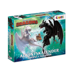 CRAZE Spiel, Adventskalender Dragons 41 x 32,5 x 6,2cm