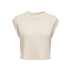 ONLY Strick Weste Damen Beige Female M