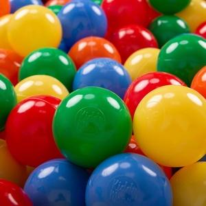 KiddyMoon 50 ∅ 7Cm Kinder Bälle Spielbälle Für Bällebad Baby Plastikbälle Made In EU, Gelb/Grün/Blau/Rot/Orange