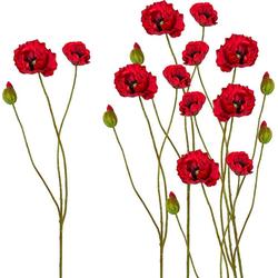 Kunstblume Kunstblume, Creativ green, Höhe 76 cm, Höhe 76 cm (6er Set) rot