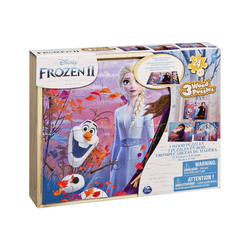 Spin Master Puzzle Spin Master 6053001 - Disney - Frozen II - Holzpuzzle, 3 x 24 Teile, 3 Puzzleteile