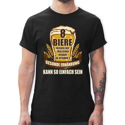 Shirtracer T-Shirt 8 Biere decken den Tagesbedarf an Vitamin C - Sprüche - Herren Premium T-Shirt XXL