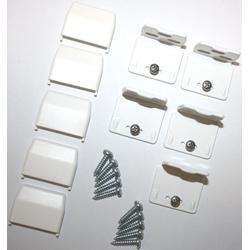 Sichtschutzzüge Montagezubehör, sunlines, Plissees, (Packung, 5-tlg), für die Rahmen/-Wandmontage von Plissees weiß