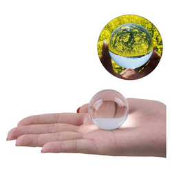 kueatily Kristallanhänger Kristallkugel Glaskugel Klar für Feng Shui Fotografie Meditation Hochzeit Home Office Dekoration 5 cm (Transparent Wei)