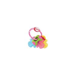 Nuby Beißring Beißring Schlüssel mit Eisgel, pink