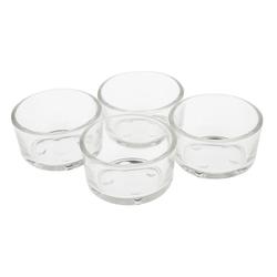 VBS Teelichthalter Teelichtgläser 4er-Pack, 2,5 cm hoch