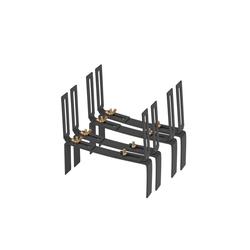 BigDean Wandhalter Blumenkastenhalter Standard H−Form Kasten Halter Balkonkastenhalter, 2-St. grau