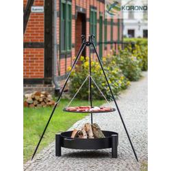 Grillset 4: Schwenkgrill - 1,80m incl. Grillrost und Feuerschale (Größe Grillrost & Feuerschale: Ø 70cm Grillrost / 80cm Feuerschale)