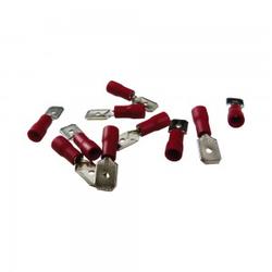10Stk Flachstecker Flachsteckhülsen Kabelschuhe AS1 6,3 x 8 Rot 0,15-1,5mm²