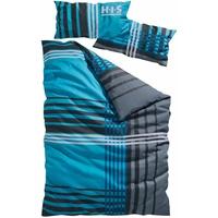 H I S Philip Linon blau 135 x 200 + 40 x 80 cm
