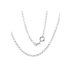 Bella Carina Silberkette rhodiniert 1,8 mm, 1,8 mm, 925 Silber rhodiniert 80 cm