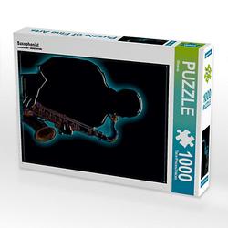 Saxophonist Lege-Größe 48 x 64 cm Foto-Puzzle Bild von Bluesax Puzzle