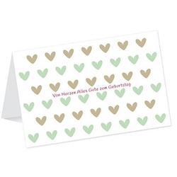LUMA Geburtstagskarte Herzen DIN B6