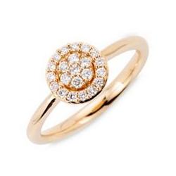 Ring 22 Brillanten zus. ca. 0,25ct Weiß/lupenrein Gold 585