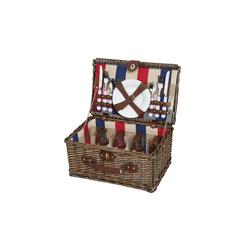 Cilio Picknickkorb Picknickkorb für 4 Personen LENNO, Picknickkorb