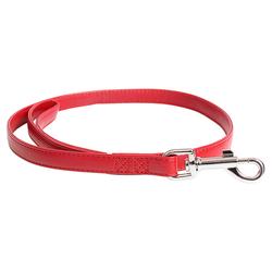 Duvo+ Hundeleine Chic Kunstleder rot, Maße: 100 cm / 12 mm
