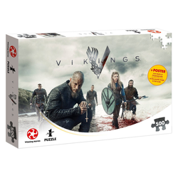 Winning Moves Steckpuzzle Puzzle Vikings The World Will be Ours 500 Teile, 500 Puzzleteile