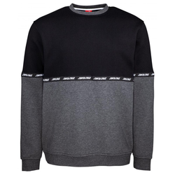 Sweatshirt SANTA CRUZ - Mixtape Crew Black/Charcoal Heather (BLACK-CHARCOAL HEATH)