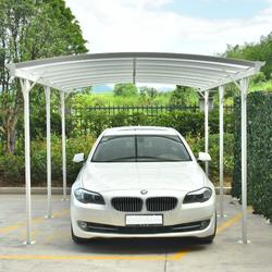Carport aus Aluminium weiß 3x5,76m & Polycarbonat 6mm X-METAL