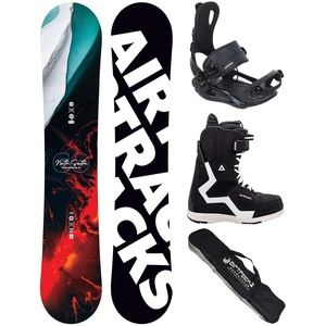 Airtracks Snowboard Set/Board North South Four Wide 157 + Snowboard Bindung Master + Boots Master QL 40 + Sb Bag