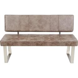 Sitzbank, Breite 140 cm grau