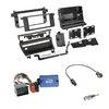 CLARION Radioeinbauset 2-DIN Radioblende+Lenkradadapter für BMW 3er (E46) 1998-2007 (1 Schalter)