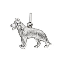 JOBO Kettenanhänger Schäferhund, 925 Silber