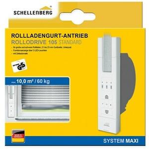 Schellenberg Rollladen-Gurtwickler Rollo Drive 105 Standard  (Zugkraft: 60 kg, Gurtbreite: 23 mm, Unterputz) + BAUHAUS Garantie 5 Jahre auf elektro- oder motorbetriebene Geräte