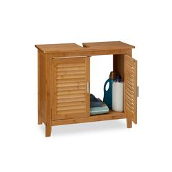 relaxdays Waschbeckenunterschrank Waschbeckenunterschrank LAMELL Bambus