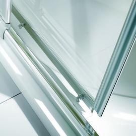 Breuer Fara 4 Eckeinstieg 80 x 80 cm Alu silber matt/Klarglas hell