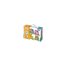 Trefl Puzzle Baby Puzzle - Waldtiere (3/4/5/6 Teile), Puzzleteile