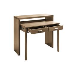 Schreibtisch , ausziehbar braun H/B/T ca. 88/100/39-68 cm, breit