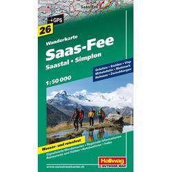 Saas-Fee - Saastal - Simplon 1 : 50.000