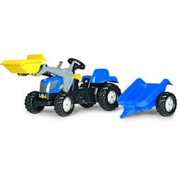Rolly Toys Trettraktor mit Schaufellader und Anhänger rolly Kid NH T 7040
