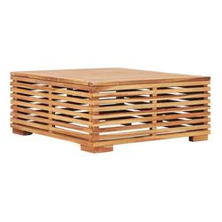 vidaXL Gartentisch vidaXL Gartentish 69,5x69,5x31 cm Teak Massivholz braun