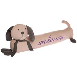elbmöbel Bodentürstopper Zugluftstopper Hund lang Welcome, Türstopper: Zugluftstopper 73x23x10 cm Hund