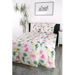 Bettwäsche Flamingo, jilda-tex, im stylischen Flamingo-Muster