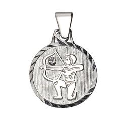 Firetti Sternzeichenanhänger runde Form, diamantiert, mit Kristallstein 9